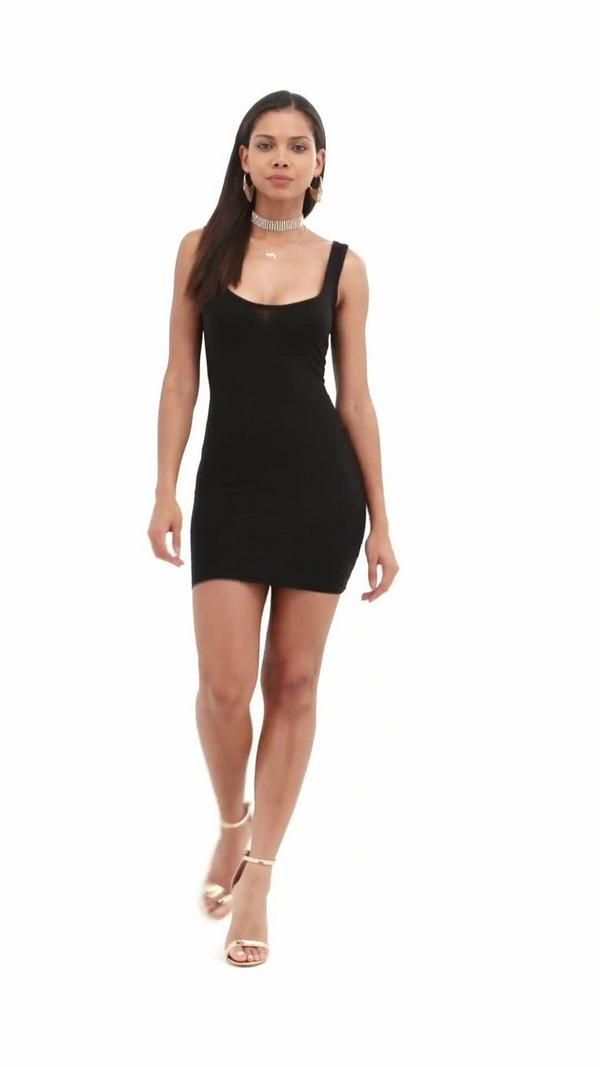 England square in basic bodycon dress missguided black neck wedding