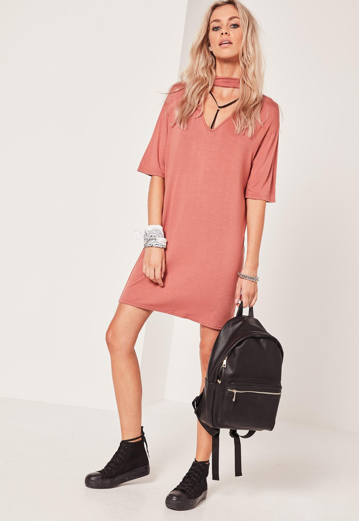 Robe t shirt rose