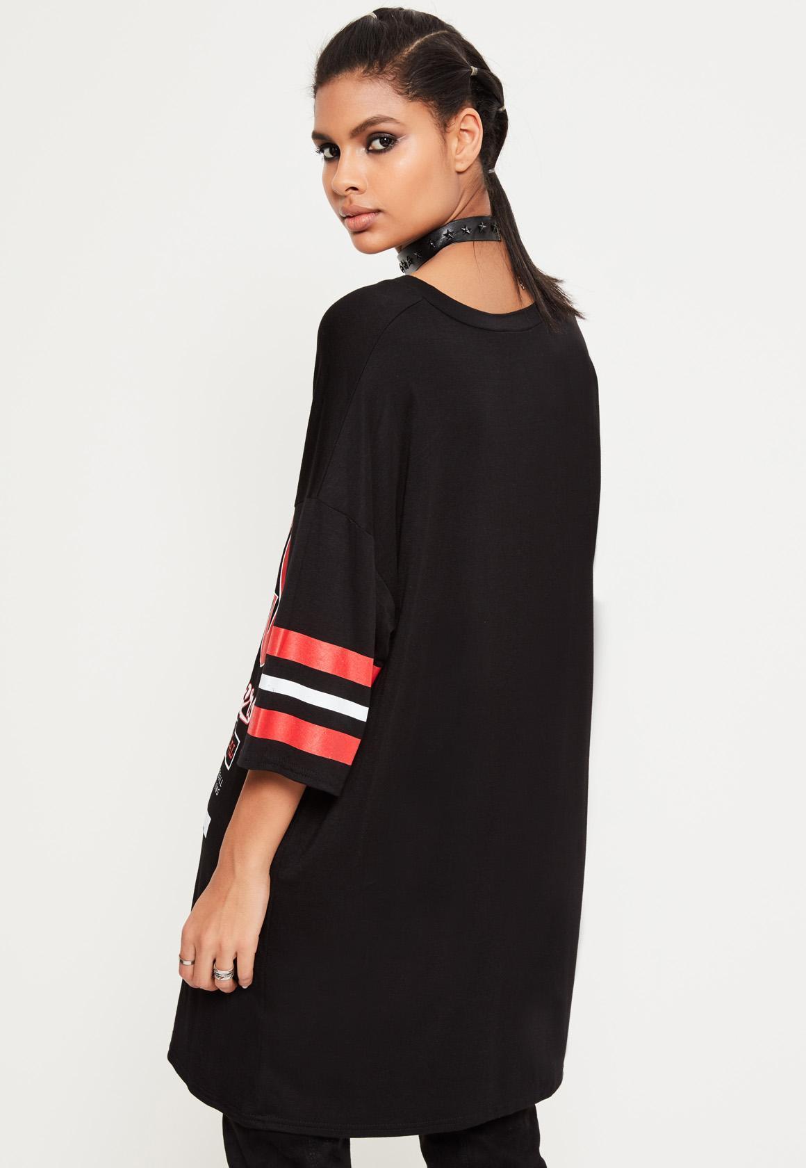 Black Illinois Sports Jersey Dress