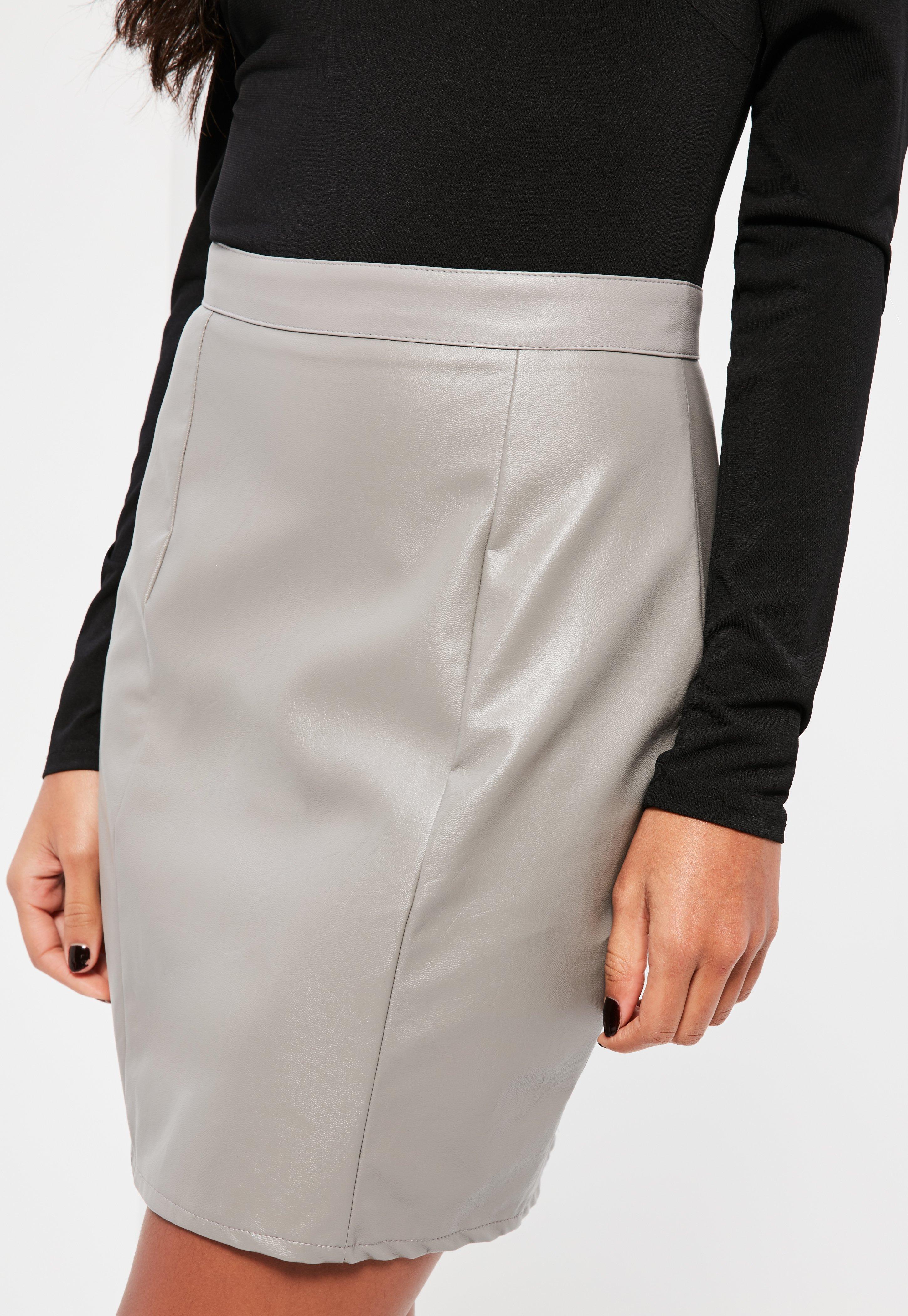 Black Contrast Bardot Faux Leather Bottom Dress