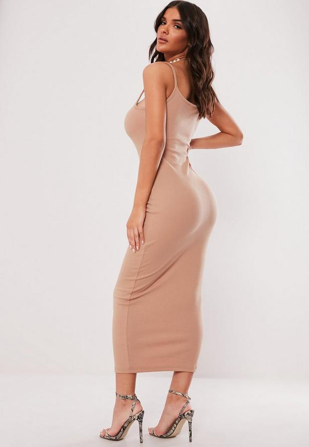 Missguided - Ribbed Strappy Bodycon Midi Dress - 2