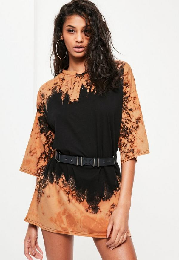 Black Wash T Shirt Dress