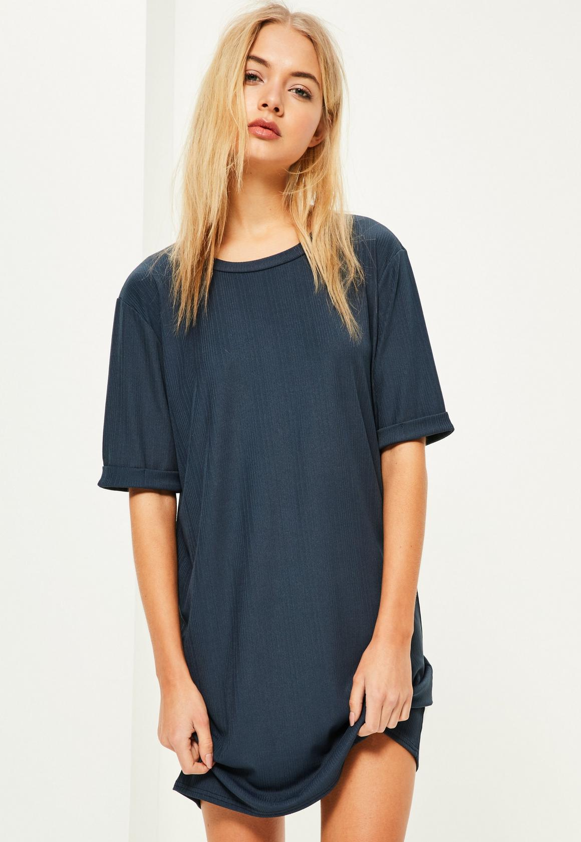 Blue Off The Shoulder Shirt Dress Chad Crowley Productions
