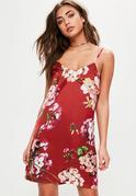 Red Based Floral Print Dress