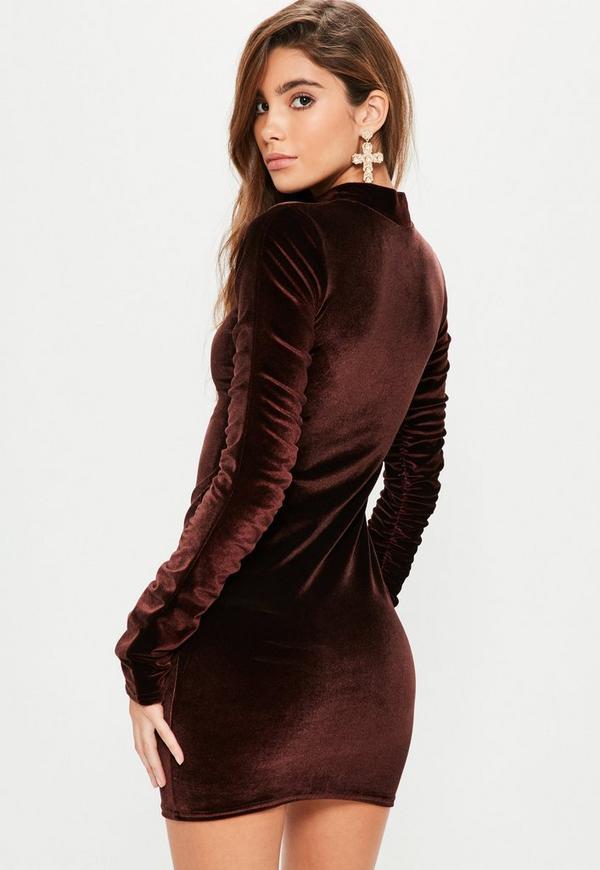 Black mesh bodycon dress