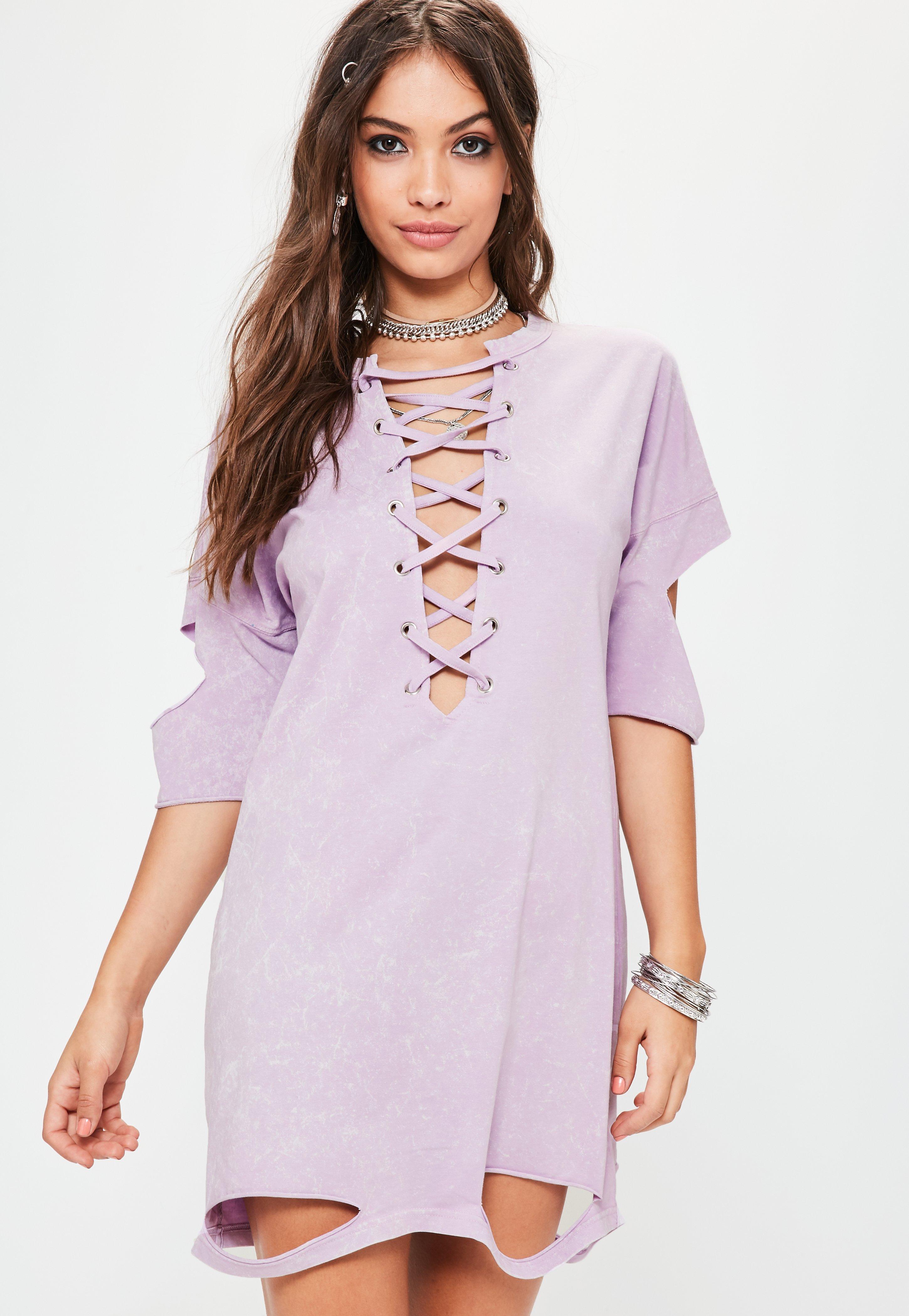Lavender lace pencil dress