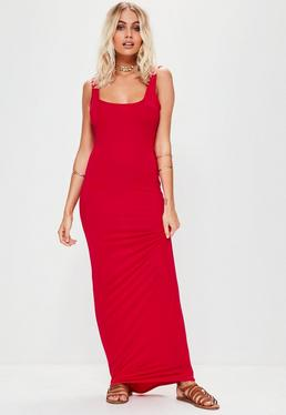 Red Sleeveless Maxi Dress