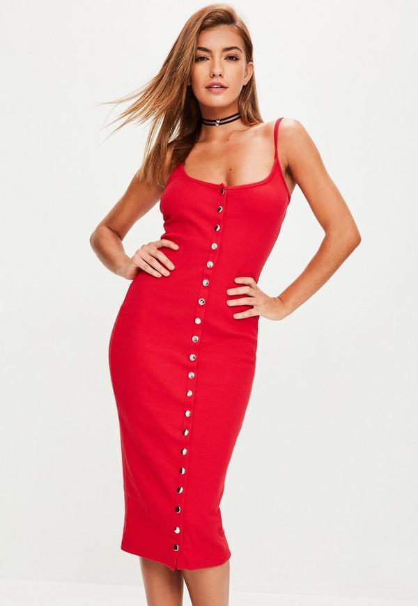 robe mi longue rouge moulante missguided. Black Bedroom Furniture Sets. Home Design Ideas