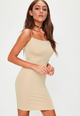 Cielista sukienka mini na cienkich ramiączkach