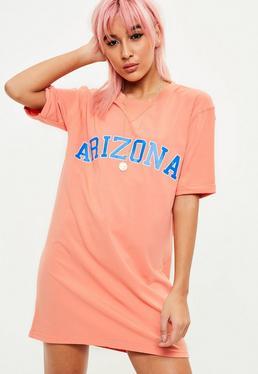 Orange Arizona Graphic T-Shirt Dress