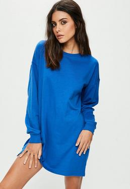 Blue Jumper Dress