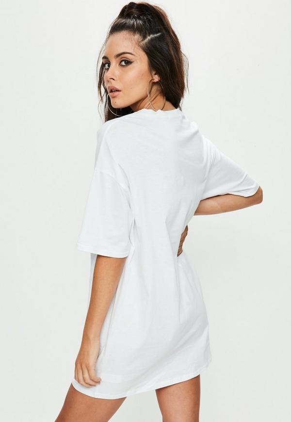 robe t shirt blanche imprim c ur missguided. Black Bedroom Furniture Sets. Home Design Ideas