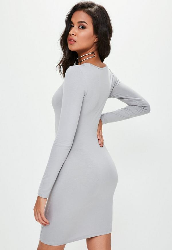 Race day Sexy V-Neck Ruched Plain Knitted Mini Bodycon Dress online enterprise neiman marcus