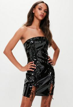 Nicole p black dress vinyl