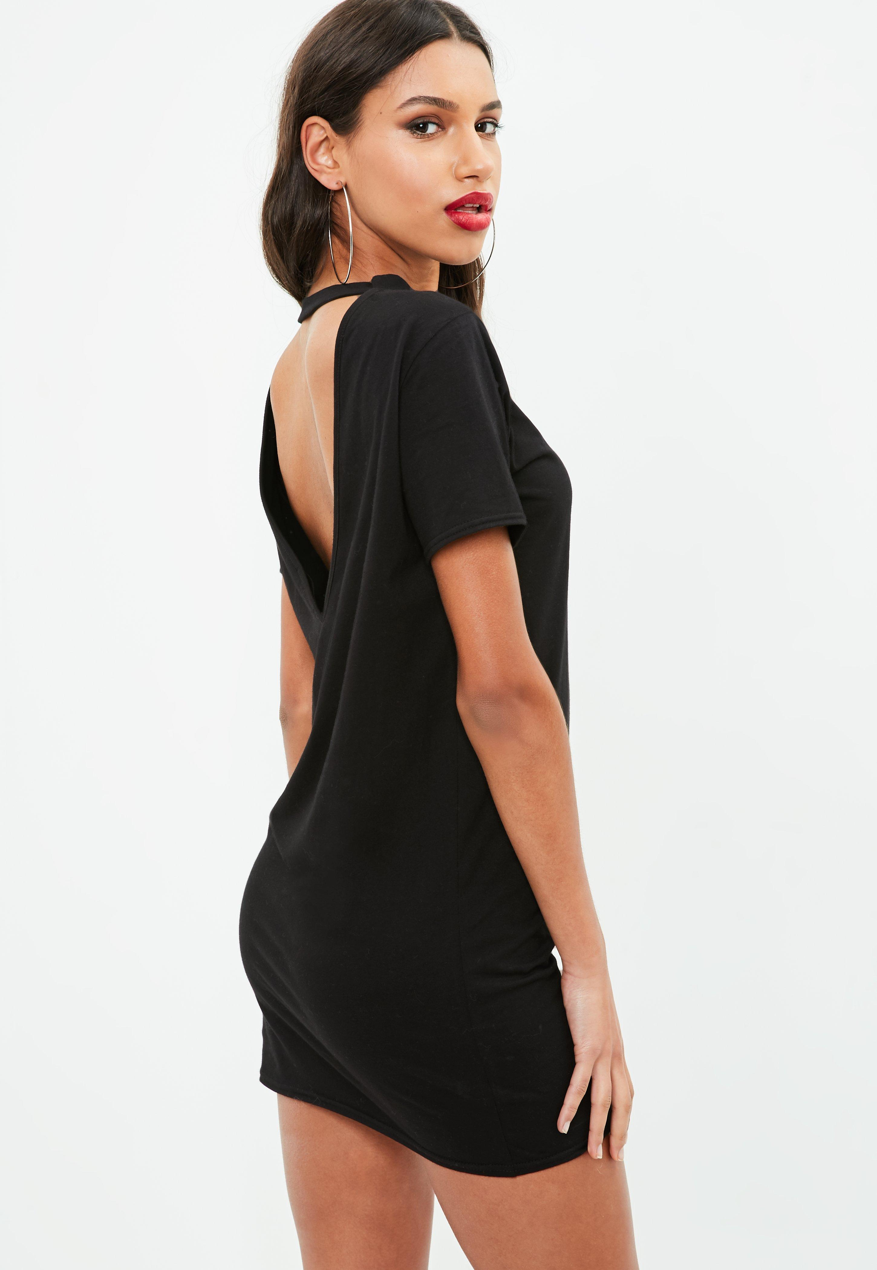 Black dress long in the back