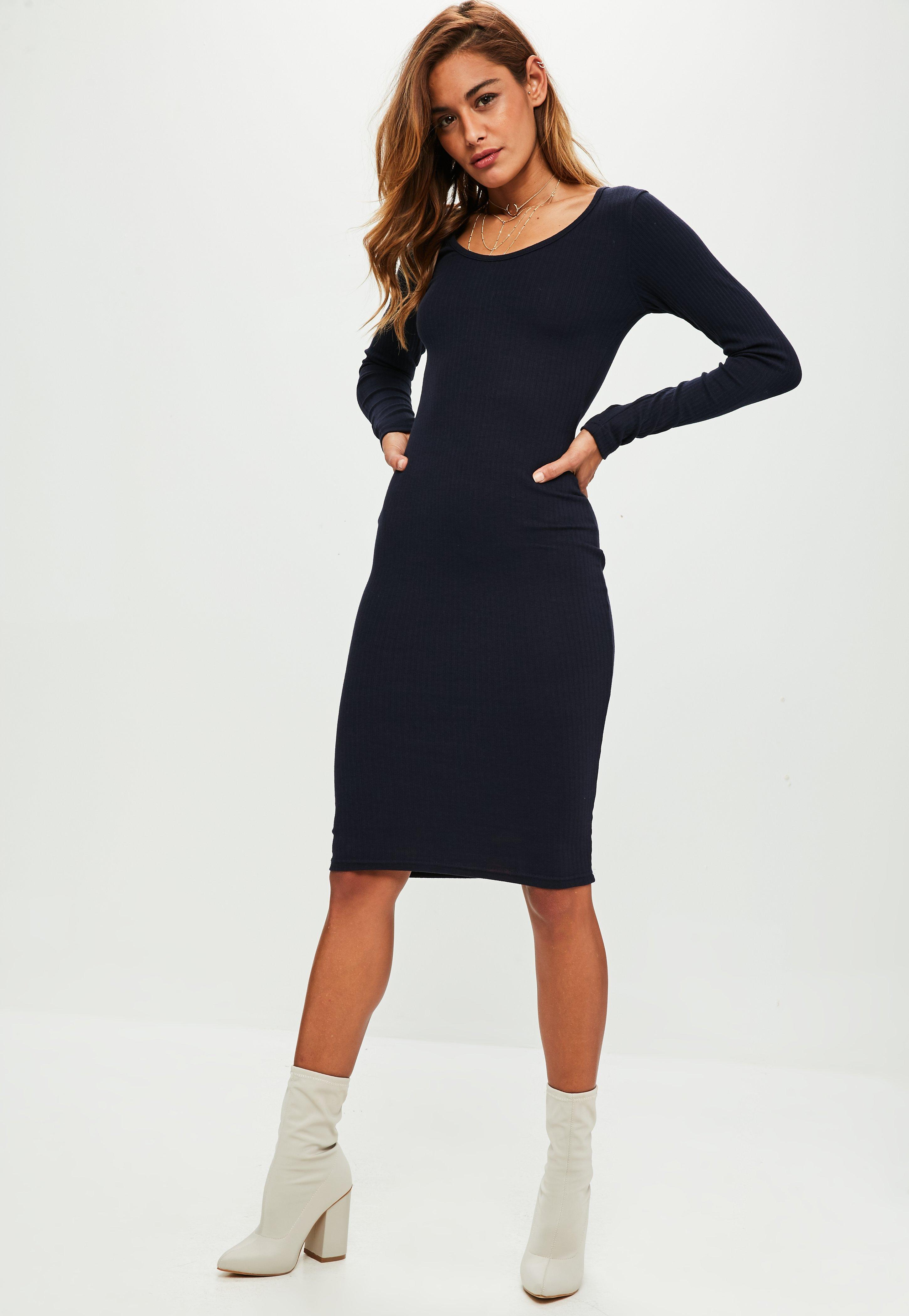 Black Ribbed Midi Dress - 14 / BLACK I Saw It First Cheap Sale Footaction Cheap Sale Clearance Wear Resistance jDwFzs3ryy