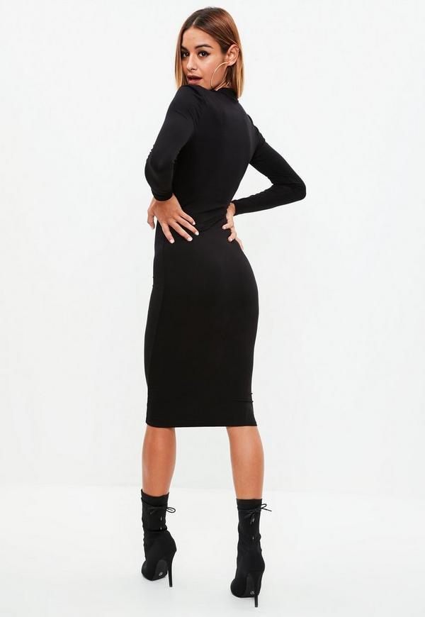 Midi kleid langarm