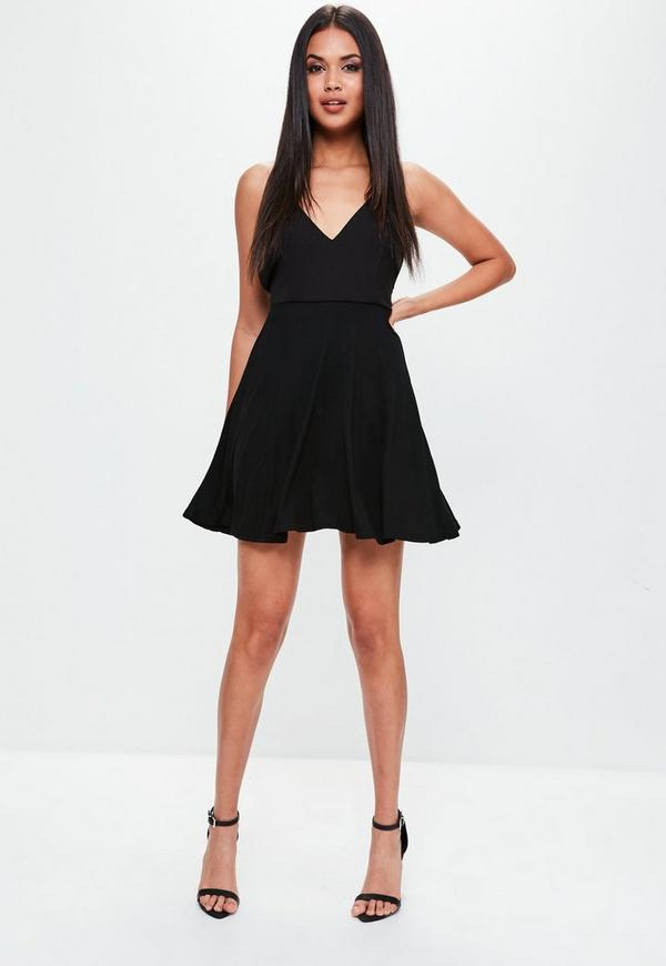 Missguided black strappy dresses