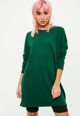 Green Mini Sweater Dress