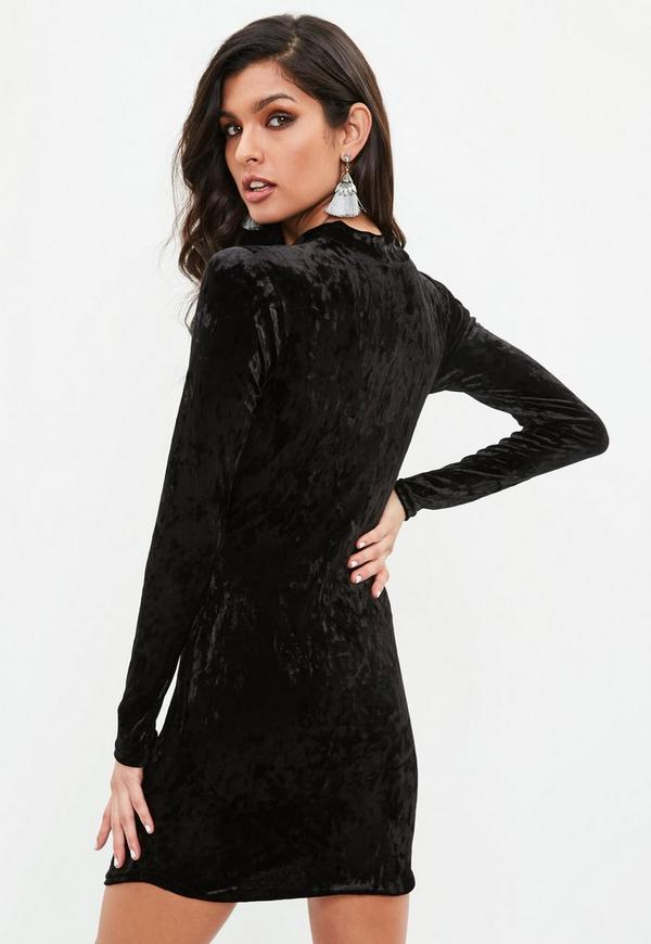 Black criss cross mesh top bodycon dress