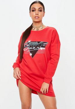 Czerwona sukienka bluza Game Over