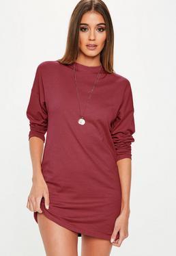 Dresses online women 39 s online dress shop us missguided for Burgundy long sleeve t shirt womens
