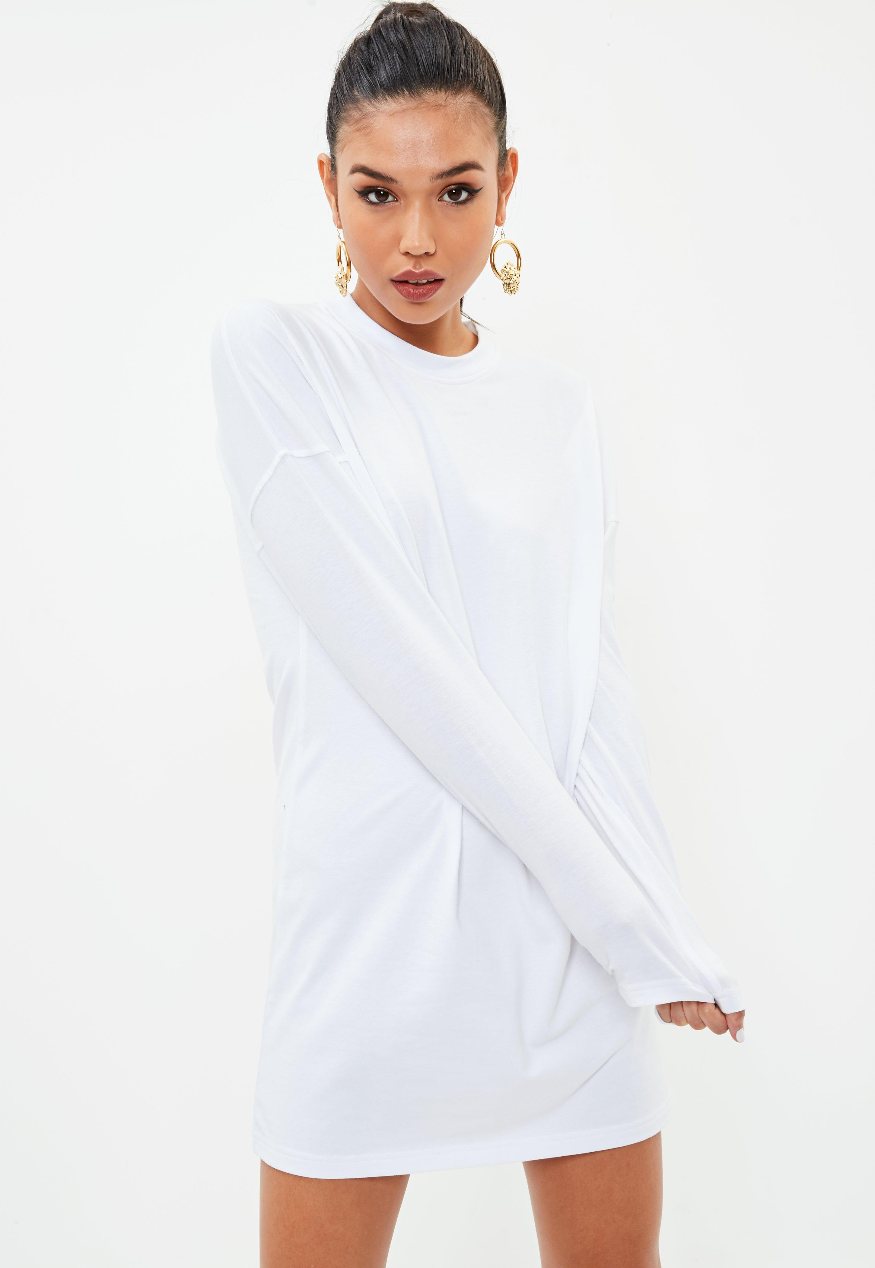 2018 New For Sale Missguided Long Sleeve Tshirt Dress Pay With Paypal Cheap Online Wi3Yq5VM