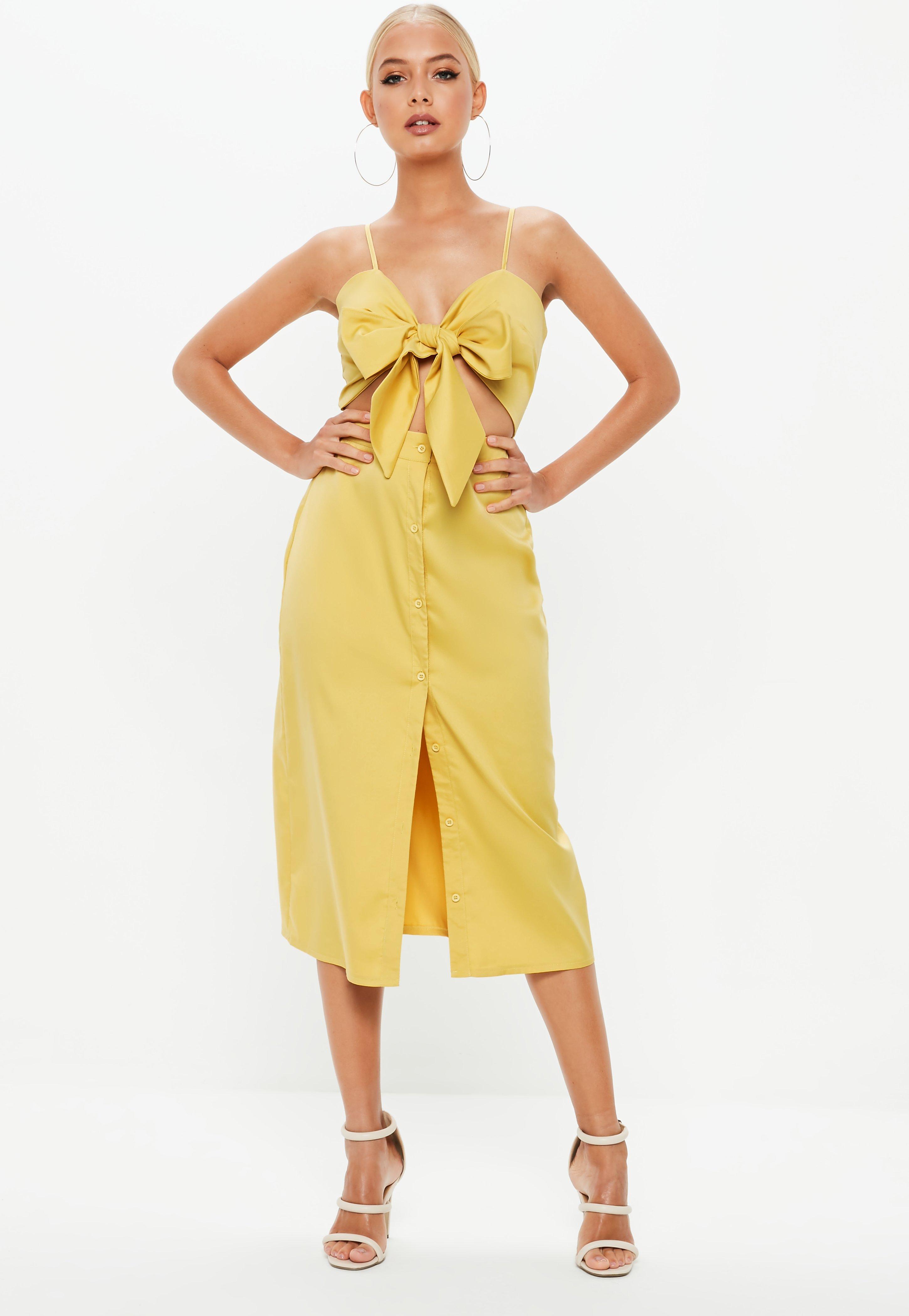 Kleid gelb glitzer