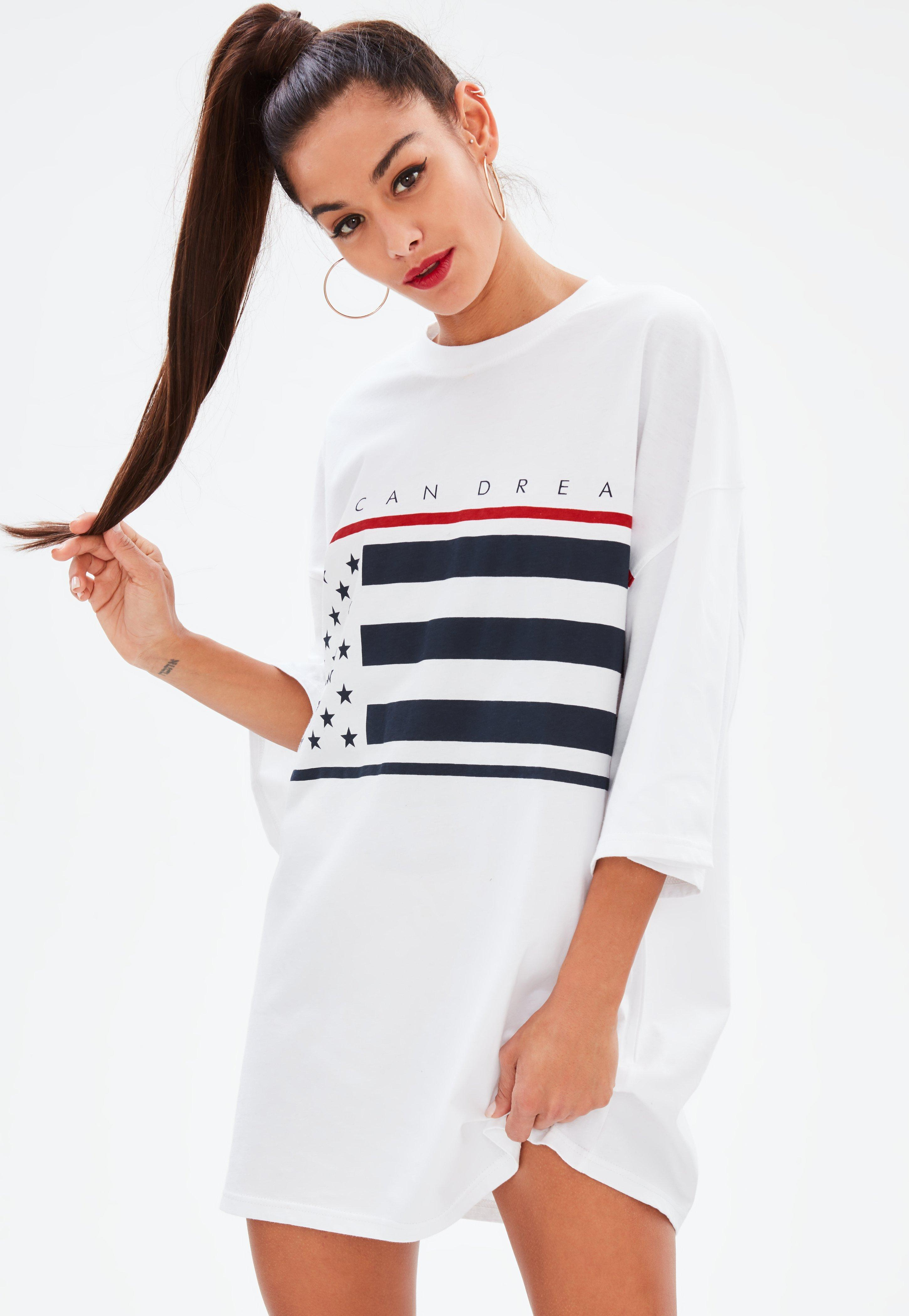 Not Today White Embroidered Oversized T Shirt Dress Pretty Little Thing Cheap Prices Authentic Discount Explore Sast For Sale Choice Online xSBymma