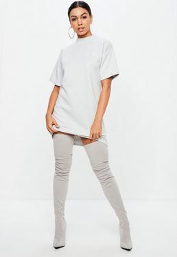 White Striped Cali Girl Sweater Dress