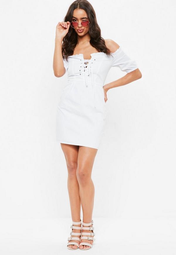 White Milk Maid Dress Missguided