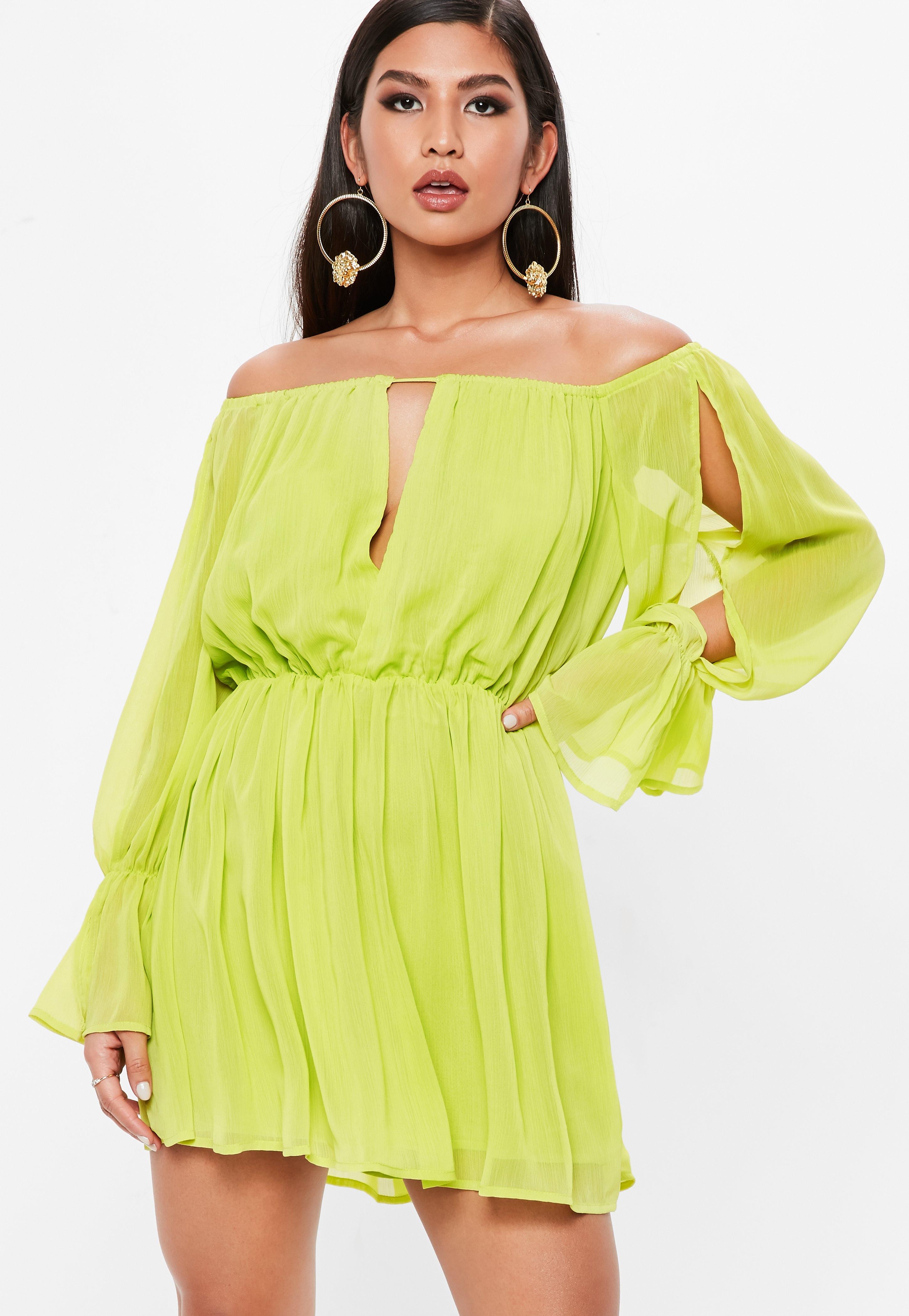 Yellow Cocktail Dresses for Women
