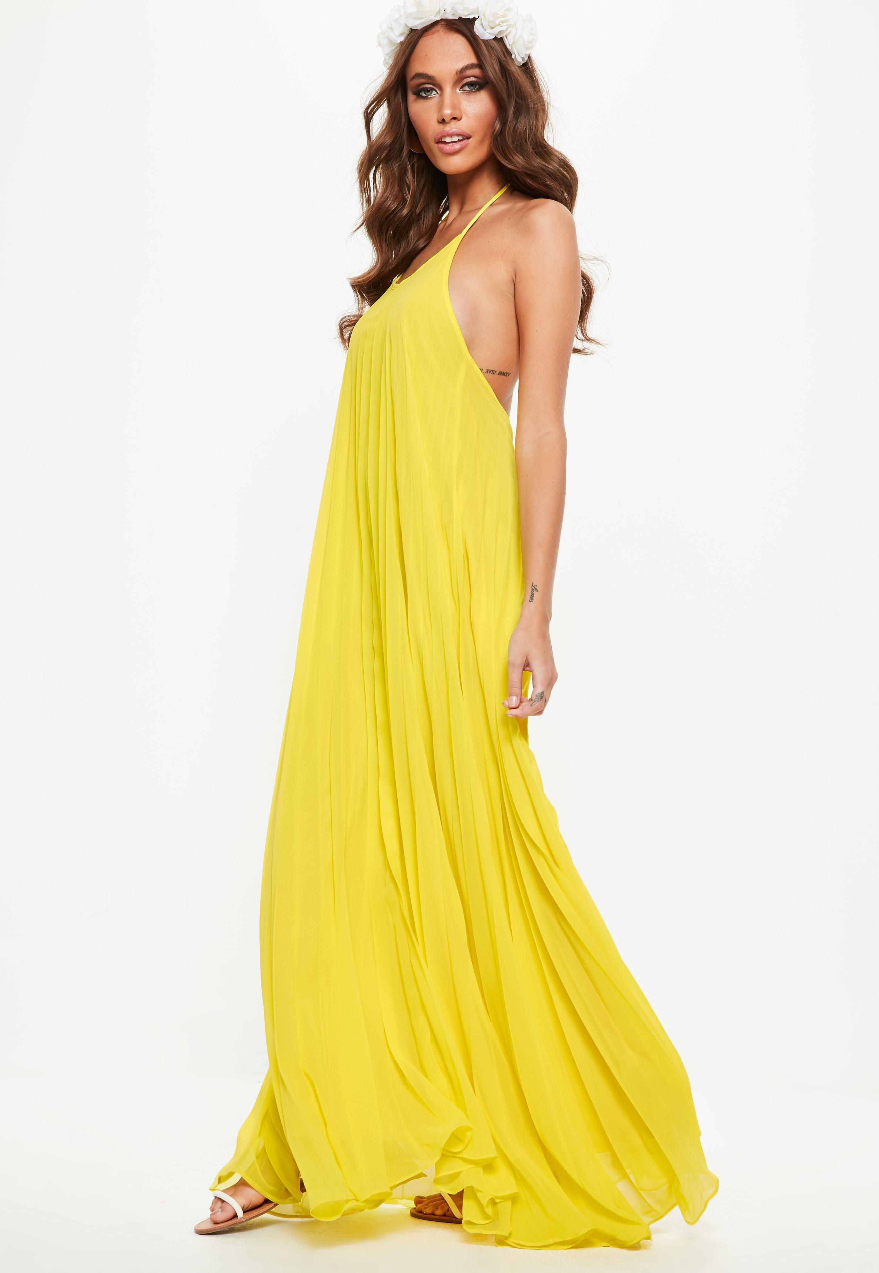 Maxi Dresses Yellow