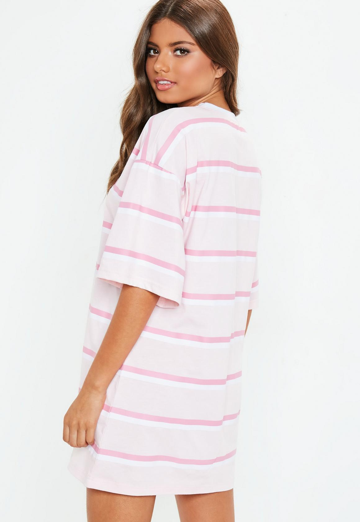 ccf90c71 Missguided Striped Oversized T shirt Dress at £15   love the brands