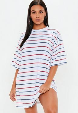 T shirt kleid gestreift