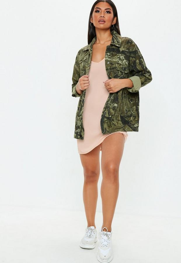 Missguided - Nude Cami Shift Dress, Nude - 2