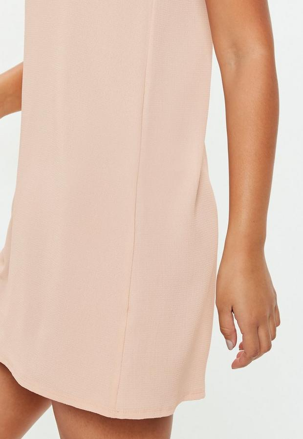 Missguided - Nude Cami Shift Dress, Nude - 3