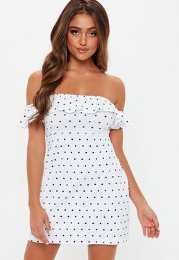 49c18770b0 Bardot Dresses | Off the Shoulder Dresses - Missguided Ireland