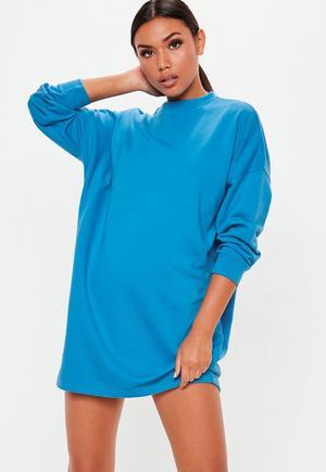 £15.00. blue oversized long sleeve sweater dress 9d6c9d8eea69
