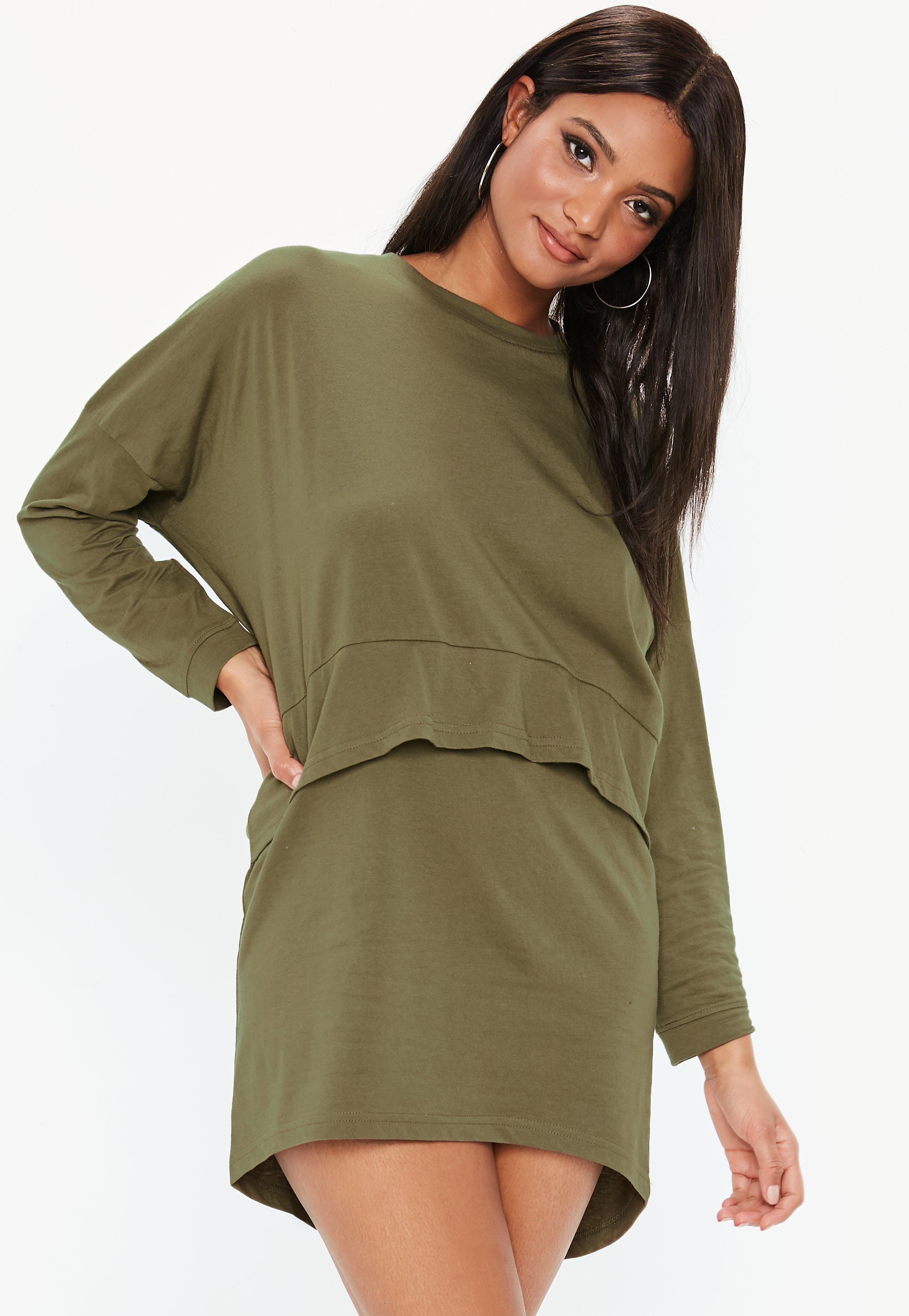 eb37774696d43 khaki-oversized-jersey-overlay-t-shirt-dress