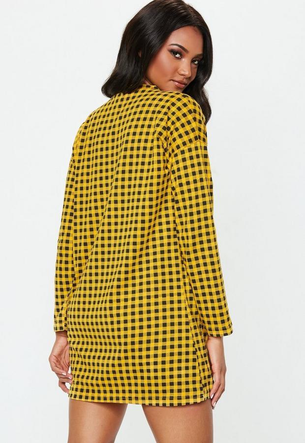 Missguided - Oversized Zip Front Shirt Dress - 4
