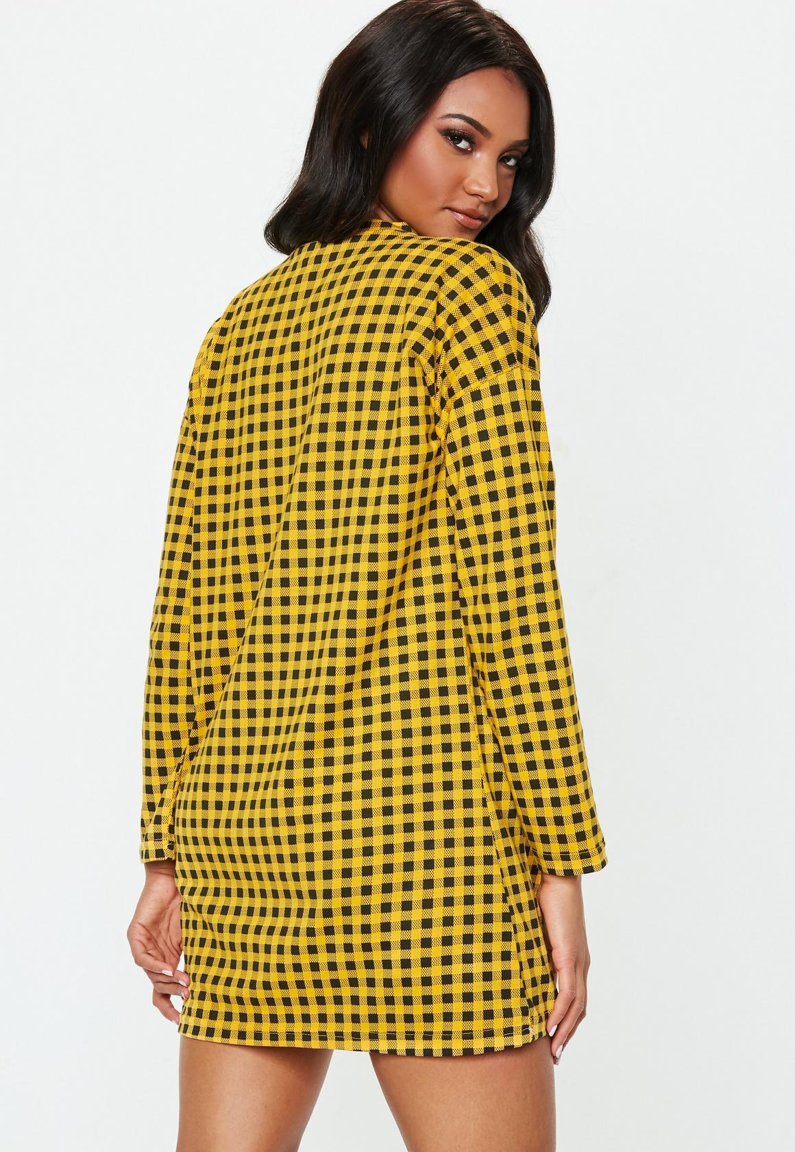 Missguided - robe-sweat  à damier détail zip - 4
