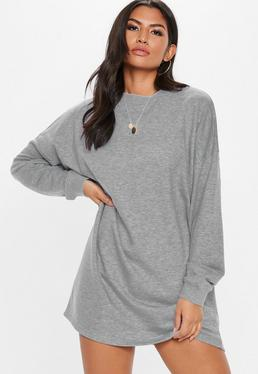fe78cf1ed1 Grey Oversized Sweater Dress