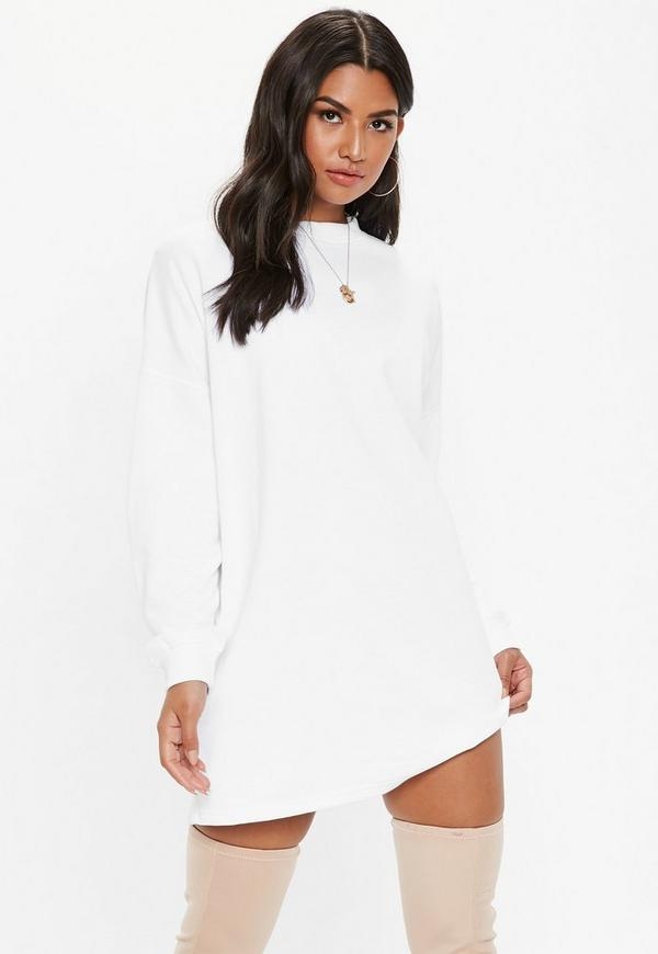 White Basic Sweater Dress by Missguided
