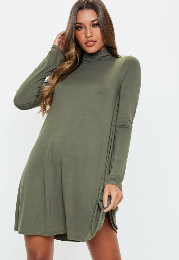 Missguided - Roll Neck Swing Dress - 1