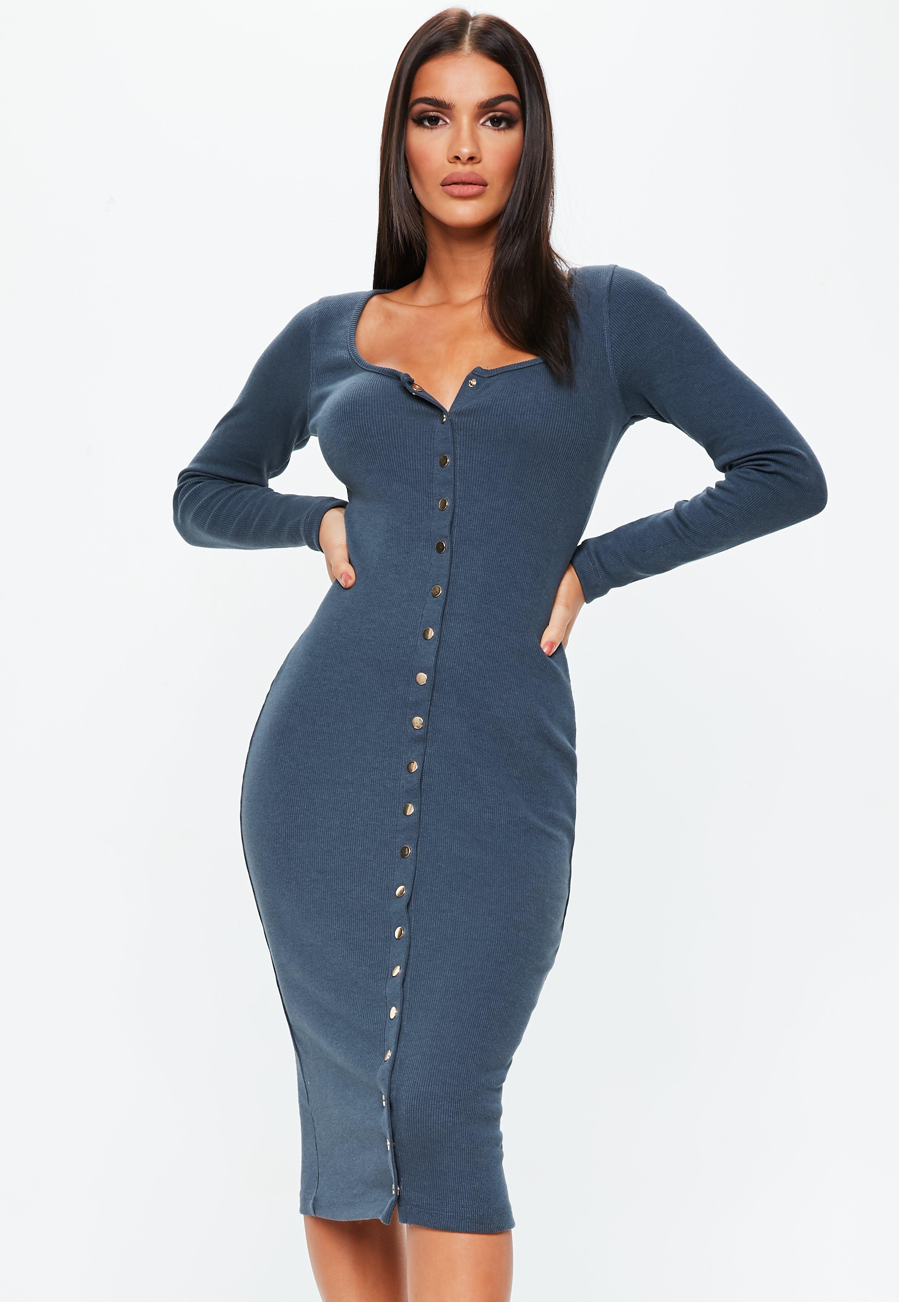 Midi Dresses | Women\'s Knee Length Dresses - Missguided