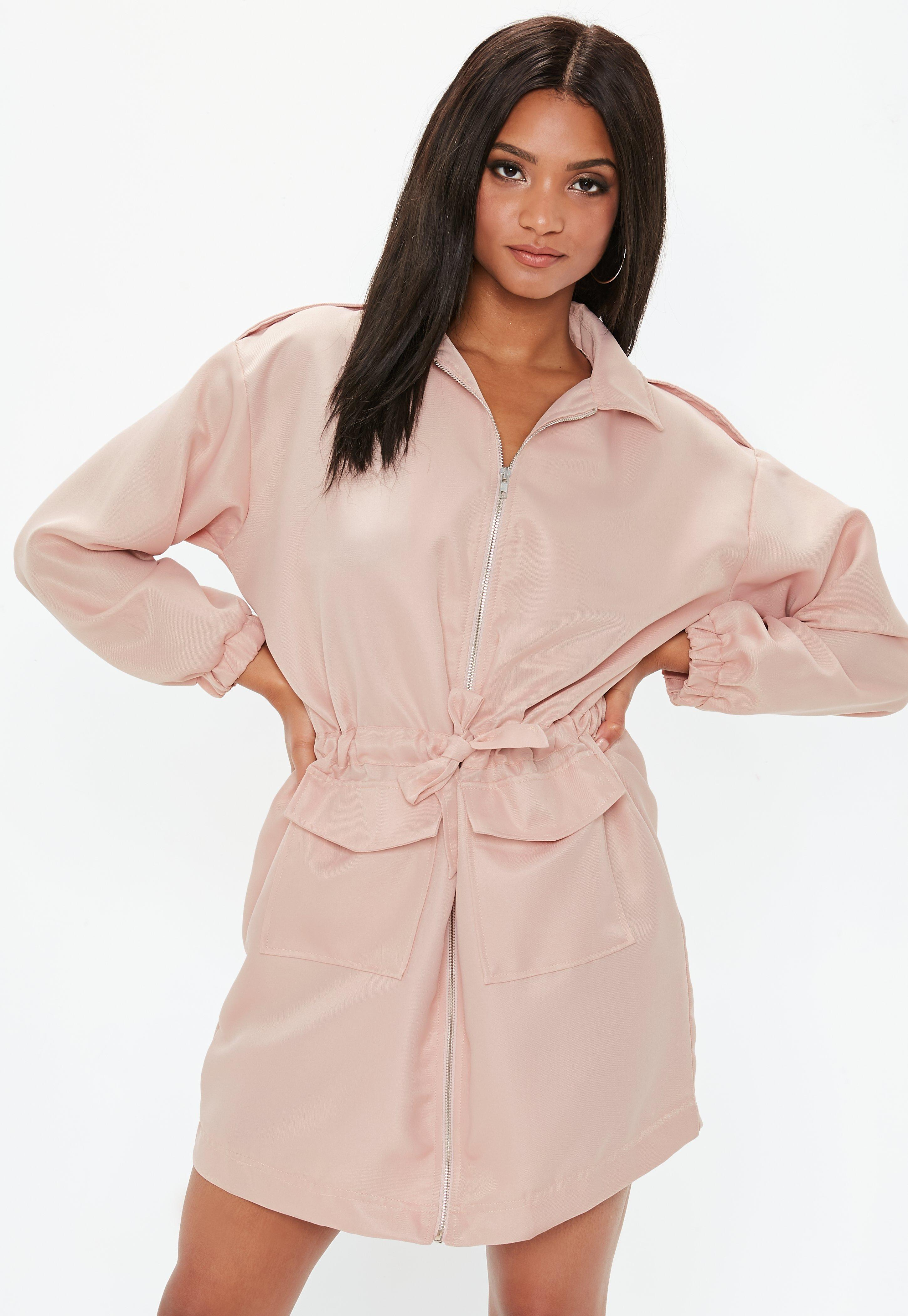 UtilityMissguided Robe Style Courte Pale Rose Nnvm8w0