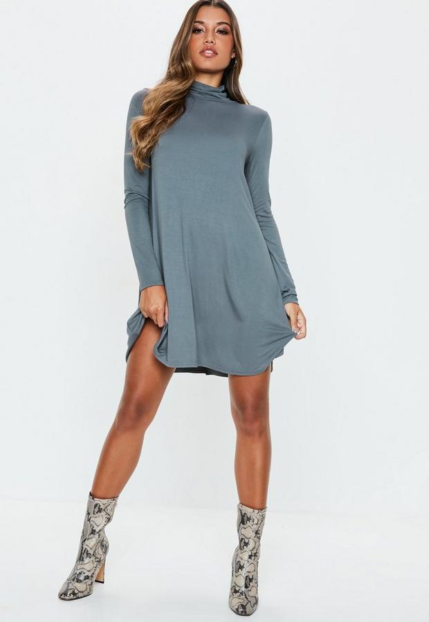 Missguided - Roll Neck Swing Dress - 2
