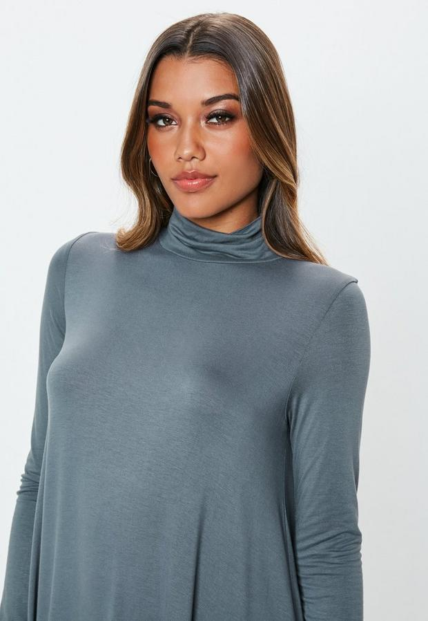 Missguided - Roll Neck Swing Dress - 3