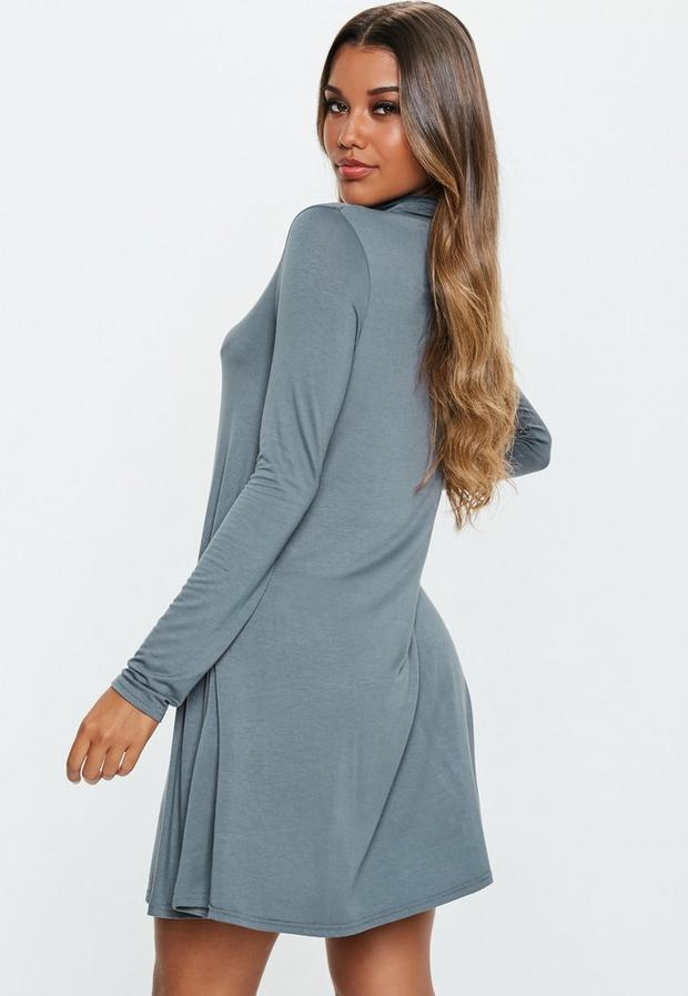 Missguided - Roll Neck Swing Dress - 4